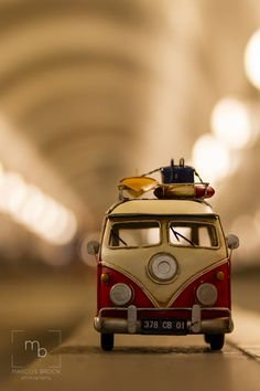 lights up by Marcus Brock on Miniature Photography, Cute Photography, Creative Photography, Wolkswagen Van, Miniature Cars, Mini Photo, Cute Cars, Small Cars, Love Wallpaper
