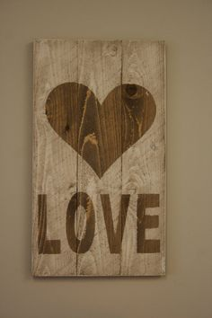 Rustic LOVE Sign Pallet Sign Vintage Sign Wall by RusticlyInspired, $22.00