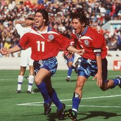 Marcelo Salas e Iván Zamorano: great players of Chilean soccer team.
