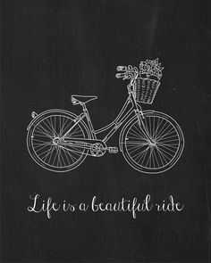 Life is a Beautiful Ride Vintage Bicycle Wall Art by FebruaryLane