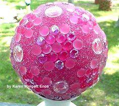 DIY Garden art balls