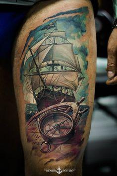 Ideas Tattoo Frauen Oberarm Maritim For 2019 Head Tattoos, Feather Tattoos, Arm Tattoo, Sleeve Tattoos, Gun Tattoos, Arrow Tattoos, Tattoo Flash, Trendy Tattoos, Small Tattoos