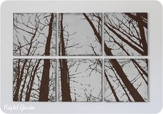 Large Distressed Forest Painting Wall Art on 6 by RightGrain, $165.00