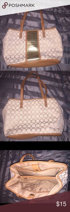 🌸NINE WEST MULTIFUNCTION TOTE🌸 This is a very roomy bag w/ lots of compartments as seen in the pictures.  You can also carry your laptop and necessities.  Excellent condition! Nine West Bags Totes