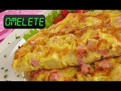Omelete de presunto e queijo no micro-ondas