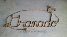 Handcrafted custom western rope name art, perfect for any western, rustic or nautical themed room or party. Please visit my etsy shop, Lasso Lettering, at https://www.etsy.com/shop/LassoLettering