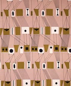 Lucienne Day - husband was a furniture designer .. architectural influence