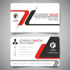 Visiting Card Red and black layout business card template. Premium Vector Zucchini: A Power House of Business Cards Layout, Professional Business Card Design, Free Business Card Templates, Modern Business Cards, Business Card Mock Up, Id Card Template, Visiting Card Design, Bussiness Card, Freepik Vector