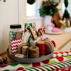 Christmas gift wrapping station ideas