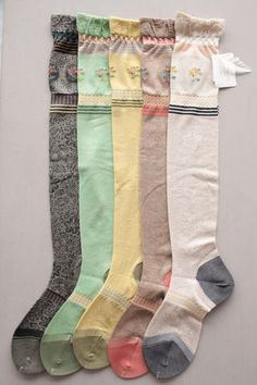 MISS LACE high socks by Anitpast. Leave it to the Japanese to make the most beau… – Hosiery Designs Cute Socks, My Socks, Boot Socks, Awesome Socks, Tall Socks, Funky Socks, Crazy Socks, Pretty Outfits, Cute Outfits