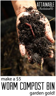 Vermicompost for great garden soil. Worm compost bin. Garden ~ prepping ~ homestead ~ grow your own ~ seeds ~ vegetables