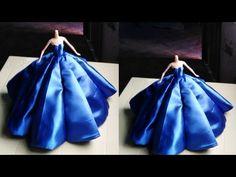 Barbie Gowns, Barbie Dress, Barbie Doll, Barbie Clothes Patterns, Clothing Patterns, Diy Dress, Dress Ideas, Hoop Skirt, Gown Pattern