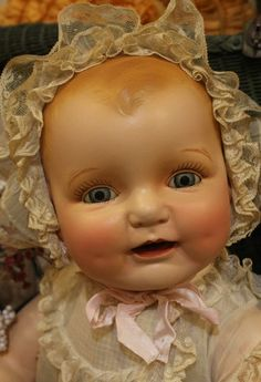"Life Size 26"" Horsman Dimples Original Clothes Old Antique Composition Doll | eBay"