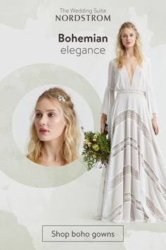 Discover your perfect bohemian wedding dress at the Wedding Suite at Nordstrom. Tap the Pin to start shopping your dream boho gown. Boho Gown, Bohemian Wedding Dresses, Boho Wedding, Dream Wedding, Bridal Gowns, Wedding Gowns, Wedding Suits, Wedding Styles, Wedding Ideas