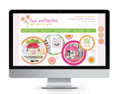 Paper & Polka Dots website design and development by The Savvy Socialista.