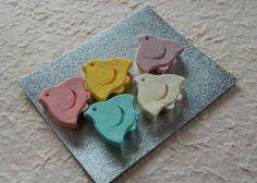 Wasanbon-Chidori | Ponto-cho SURUGAYA Kyoto【かわいい京都】先斗町駿河屋の和三盆ちどり/千鳥をかたどったカラフルな干菓子
