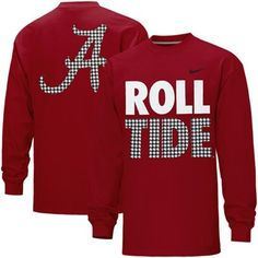 Nike Alabama Crimson Tide Roll Tide Long Sleeve T-Shirt - Crimson Alabama  Football Shirts f7abe2f784941