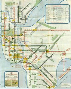 Old subway map