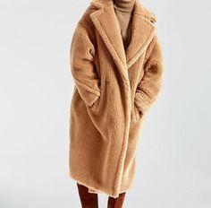 DEAT 2020 autumn and winter turn-down collar full sleeves pocket fur patchwork thickness coat female warm teddy jacket Best Winter Jackets, Best Winter Coats, Coats For Women, Jackets For Women, Clothes For Women, Dark Khaki, Men Sweater, Female, Full Sleeves
