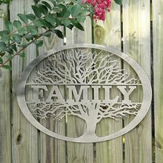 There is nothing as personal as your family name – and The Family Tree metal wall art uses your name to make an enduring family keepsake.  A wonderful gift idea for you and all your family members.  This appealing tree design looks great both in an indoor or an outdoor environment.