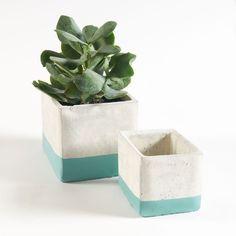 Lot de 2 cache-pots carrés Breltome La Redoute Interieurs