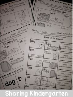 Sharing Kindergarten: Read, Find, Cover {Covers CVC and Rhymes}