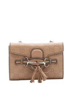 Gucci camellia guccisima leather 'Emily' shoulder bag