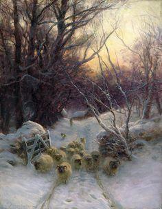 joseph farquharson | The Sun Had Closed The Winter Day Painting by Joseph Farquharson - The ...