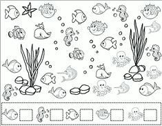 Preschool Education, Preschool Crafts, English Activities For Kids, Math Games, Under The Sea, Mathematics, Diy And Crafts, Classroom, Learning Activities