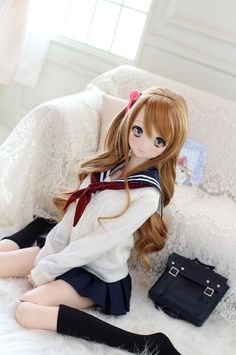 *I'm trying to look cute,like i am in a Anime but it's not working. Anime Dolls, Bjd Dolls, Girl Dolls, Barbie Dolls, Pretty Dolls, Beautiful Dolls, Kawaii Doll, Anime Figurines, Girls Anime