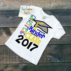 FREE SHIPPINGKindergarten Graduation Shirt by SweetSouthernCraftCo