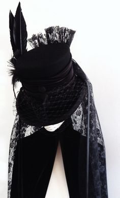 Hey, I found this really awesome Etsy listing at https://www.etsy.com/listing/111118453/raven-victorian-mourning-hat-deaths-head