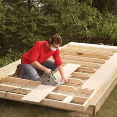 How to Build a Shed on the Cheap (DIY) | Family Handyman Carport Plans, Wood Shed Plans, Diy Shed Plans, Cheap Storage Sheds, Diy Storage Shed, Walk In Chicken Coop, Small Cabin Plans, Building A Cabin, Cool Tree Houses