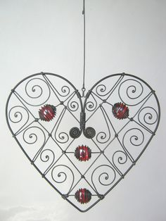 Wire Heart Sculpture by MyWireArt on Etsy, $45.00