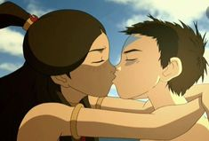 Image about kiss in 🔥Avatar:legend of aang and korra💧 by Michelle Mendoza Avatar Aang, Avatar The Last Airbender Art, Team Avatar, Zuko, Ang And Katara, Avatar Picture, Fire Nation, Comic, Legend Of Korra