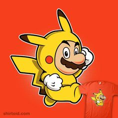 """Pika Suit    """"Pika Suit"""" by Adam Howlett aka adho1982    Mario has picked up Super Pika Power Suit."""