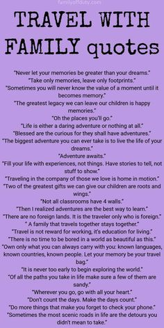 Looking for family travel quotes to get inspired for more adventures with kids Check this list with 30 best family trip quotes to read. Family Vacation Quotes, Vacation Humor, Family Quotes, Mom Quotes, Quotes For Kids, Quotes Children, Old Memories Quotes, Travel With Kids, Family Travel