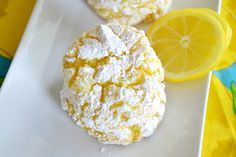 Lemon Crinkle Cookies (only 4 ingredients)