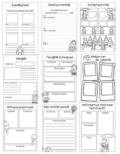 Schrijven zomer   Klas van juf Linda Summer Decoration, Dutch Language, Best Teacher Ever, Busy Boxes, Writing Assignments, Ways Of Learning, Language Lessons, Graphic Organizers, School Supplies