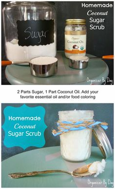 This homemade #Coconut Sugar Scrub is quick, easy and a perfect gift!