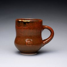handmade porcelain mug cup with iron red and by rmoralespottery, $25.00