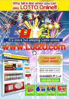 Lut2U.com YOUR ONLINE LOTTO - AUTHORIZED PCSO AGENT