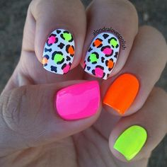 - bright summer nails -- 77 Bright Neon Nails to Try This Summer Neon Nail Art, Neon Nail Polish, Nail Lacquer, Neon Nails, My Nails, Nail Polishes, Bright Nails Neon, Gel Polish, Nail Art Designs