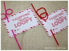 Nellie Design: Loopy Valentine Printable Tag