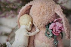 Купить Мечтаю о весне... - бледно-розовый, зайка, зайка тедди, зайка тедди купить, кролик