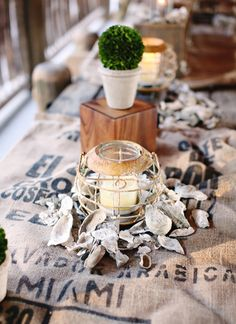 oyster centerpiece | Kay English #wedding