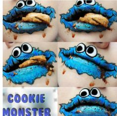 Cookie monster lip art!