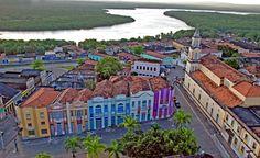 Historical center and the Sanhauá river. João Pessoa, Paraíba, Brasil.