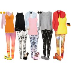 """printed leggings"" by raven-ferrel on Polyvore"