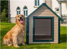 Looking for a new dog house for your pup!!New arrival of weather insulated dog house is now available. #Doghouse #Pethome